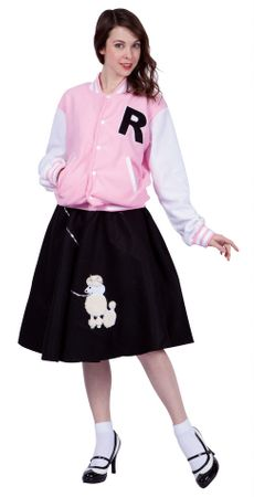 Adult Women's Pink Letterman Jacket Costume