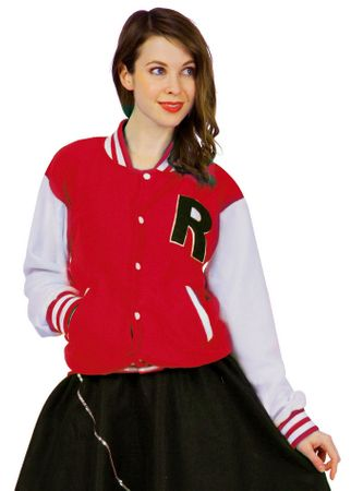 Adult Women's Red Letterman Jacket Costume
