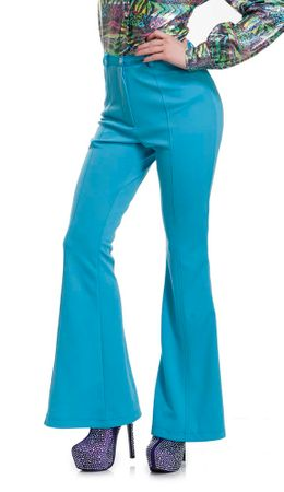 Adult Women's Blue 70's Disco Pants