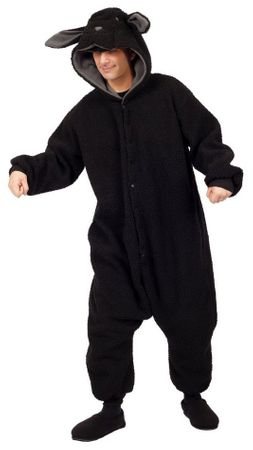 Adult Wooly the Black Sheep Funsies Costume