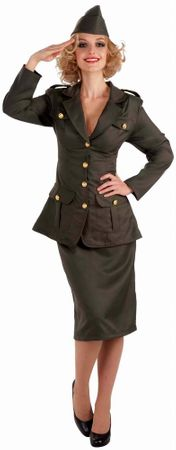 Adult WWII Army Gal Costume, Size M/L