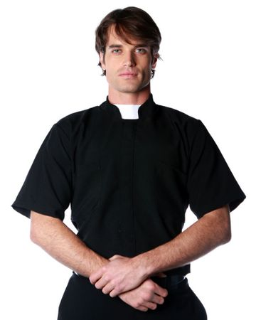 Adult Short Sleeve Priest Shirt, Size M/L