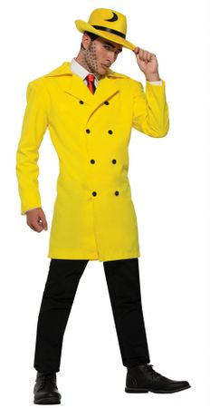 Adult Yellow Gangster Jacket, Size M/L