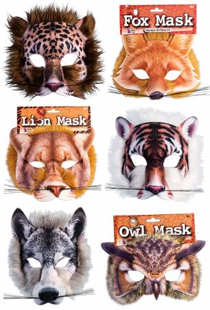 Animal Mask with Faux Fur