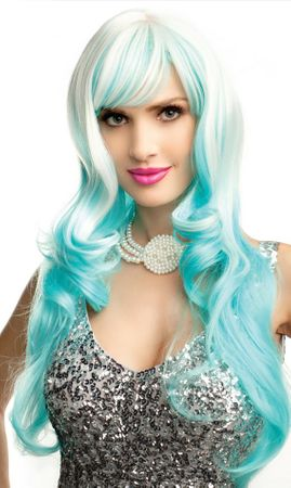 Aqua/White Dream Girl Wig