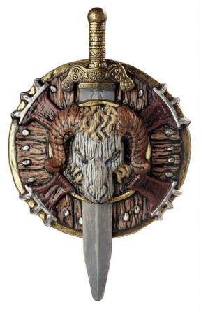 Barbarian Combat Shield and Sword