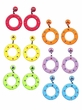 Bejeweled Circle Earrings