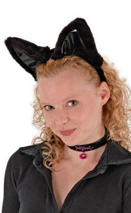 Black Cat Ears, Collar, and Tail Set