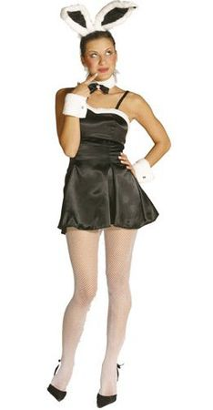 Women's Black Cocktail Bunny Costume