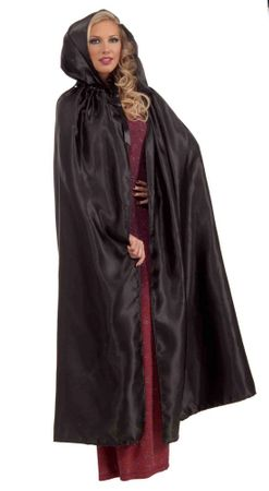 Black Fancy Masquerade Hooded Cape