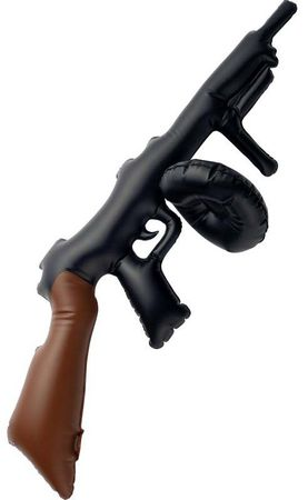 Black Inflatable 32-Inch Tommy Gun