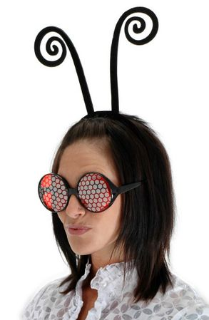 Black Insect Antenna Headband