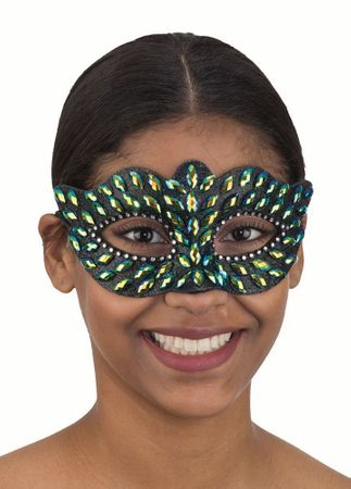 Black Jeweled Costume Mask