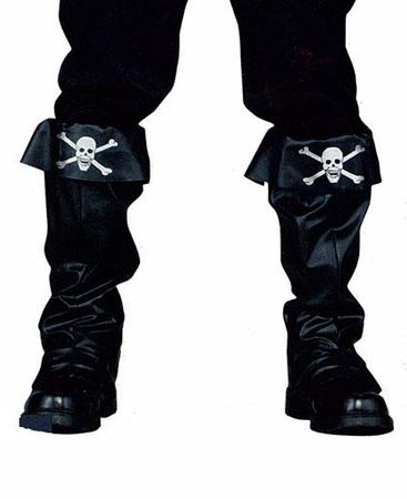 Black Pirate Boot Covers