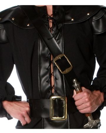 Black Pleather Sword Belt