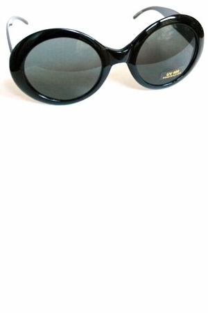 Black Round Jackie Sunglasses