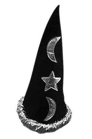 Black/Silver Wizard Hat