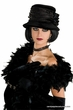 Black Velvet Flapper Cloche Hat