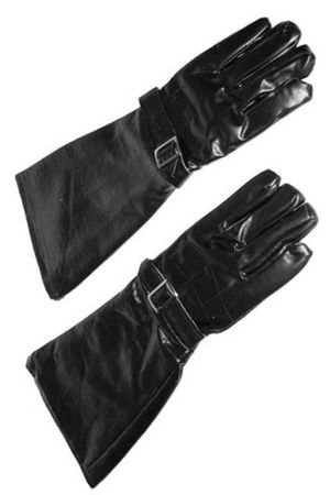 Black Vinyl Riding Gloves