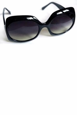 Black/White Square Sunglasses
