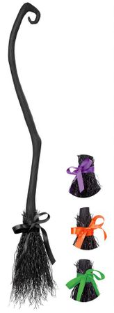 Black Witch's Broom With Interchangeable Ribbons
