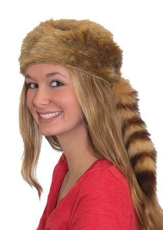 Blonde 'Coon Skin Hat - Adult and Child Sizes
