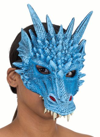 Blue Dragon Half Mask