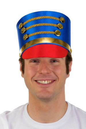 Blue/Red Drum Major or Toy Soldier Hat