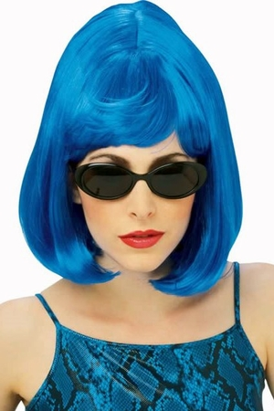 Bright Blue Starlet Wig