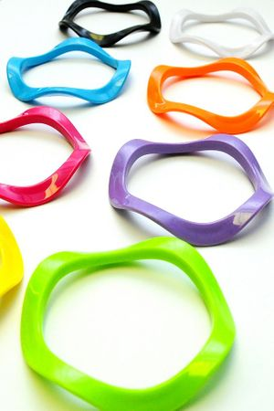 Bright Plastic Wavy Bangle