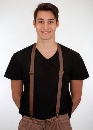 Brown Vinyl Suspenders