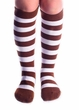 Brown/White Striped Socks - Adult or Child