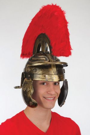 Brushed Gold Roman Legionary Helmet