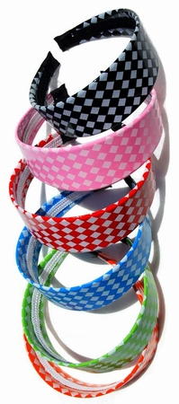 Checker Pattern Headband