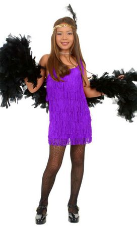 Child's Purple Fringed Flapper Costume
