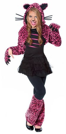 Child's Bad Kitty Hot Pink Leopard Costume