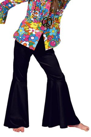 Child's Black Hippie Bell Bottom Pants