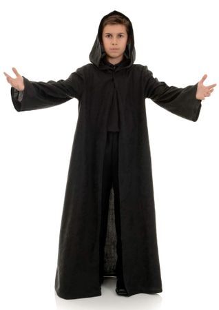 Child's Black Hooded Cloak