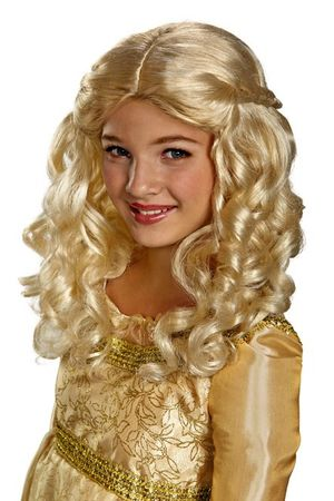 Child's Blonde Aurora Renaissance Wig