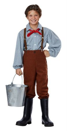 Child's Blue Pioneer Boy Costume