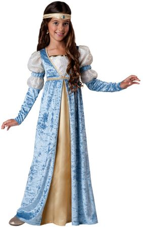 Child's Blue Renaissance Maiden Costume