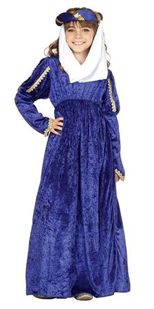 Child's Blue Renaissance Princess Costume