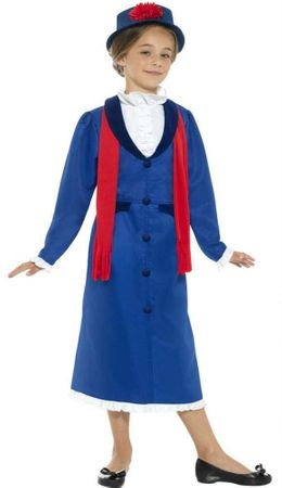 Child's Blue Victorian Nanny Costume
