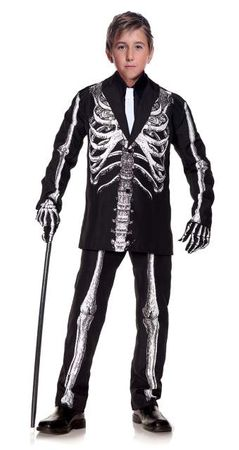 Child's Bone Daddy Skeleton Suit Costume