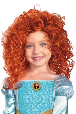 Child's Brave Merida Curly Red Wig