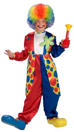 Child's Bubbles the Clown Costume