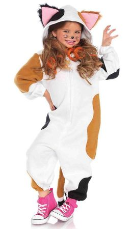 Child's Calico Cat Funsie Costume