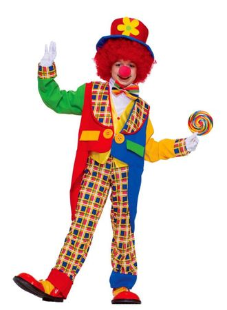 Child's Clown on the Town Costume