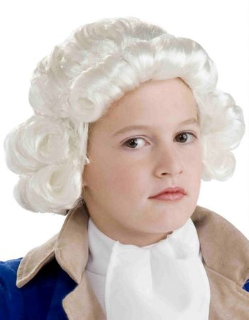 Child's Colonial Boy Wig in White