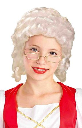 Child's Colonial Girl Wig